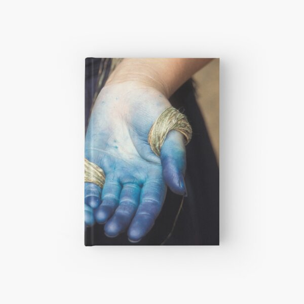 Blue Black Hmong Hardcover Journal