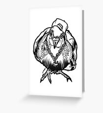 Homie Pigeon (Black & White) RedBubbleArtParty Greeting Card