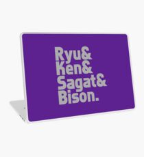 Ryu & Ken & Sagat & Bison funny nerd geek geeky Laptop Skin