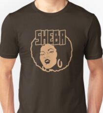 Sheba Natural Hair funny nerd geek geeky Unisex T-Shirt