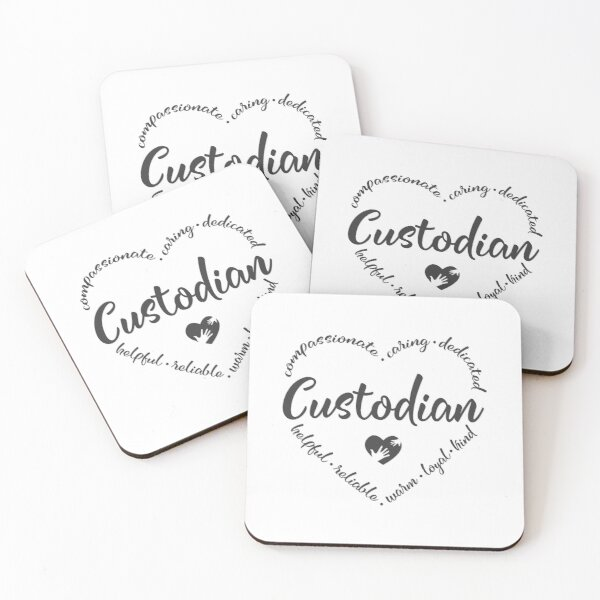 Custodian heart design for a janitor Coasters (Set of 4)
