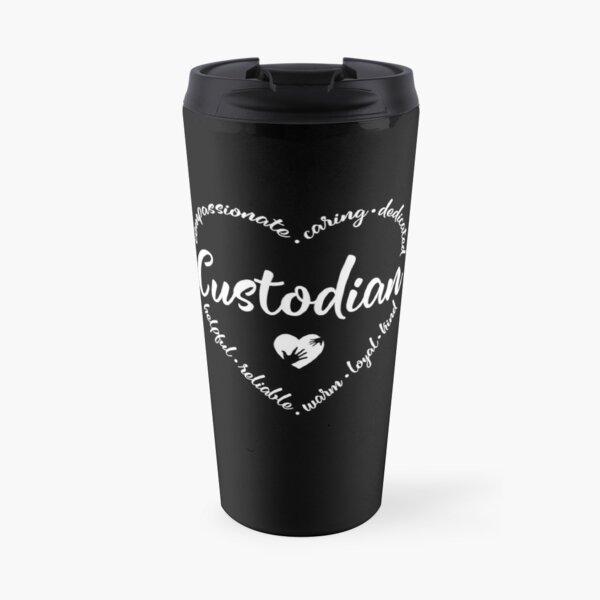 Custodian heart design for a janitor Travel Mug
