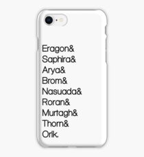 Character List Eragon iPhone Case/Skin