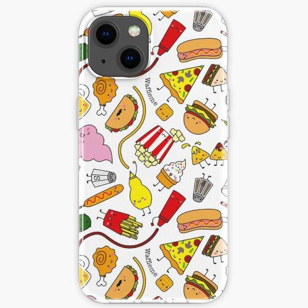 Kawaii junk food pattern! iPhone Soft Case