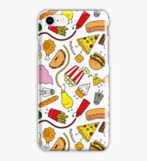 Kawaii junk food pattern! iPhone Case/Skin