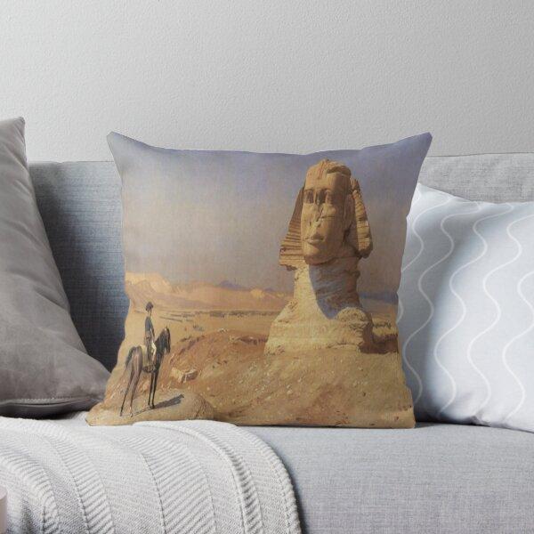Bonaparte Before the Sphinx-Jean Leon Gerome Throw Pillow
