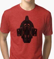 Camiseta de tejido mixto Star Trek Stencil - USS Defiant