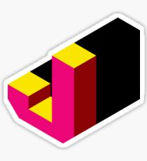Letter J Isometric Graphic Sticker