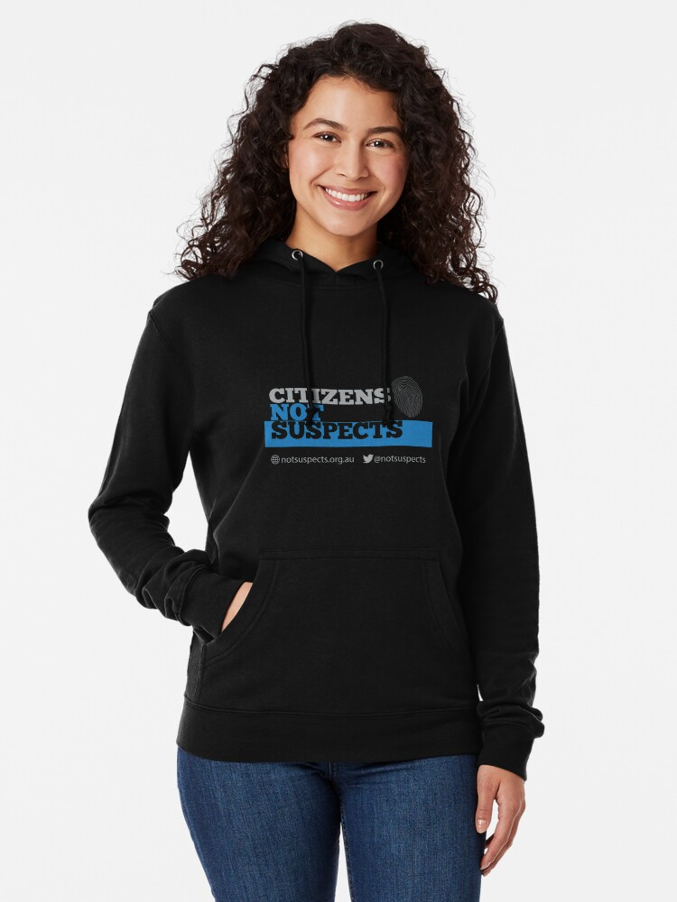 Alternate view of Citizens Not Suspects Lightweight Hoodie