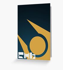 SImple HL2 Combine Poster - Blue & Gold Greeting Card