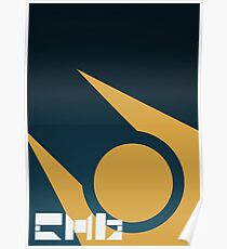 SImple HL2 Combine Poster - Blue & Gold Poster