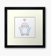 Sweet Little Penguin  Framed Print