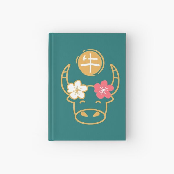 Cute Chinese New Year Ox 2021 Hardcover Journal