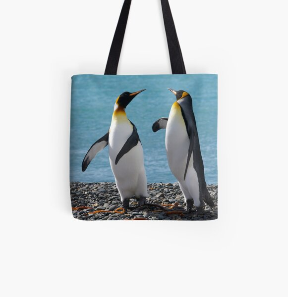 King penguin duo All Over Print Tote Bag