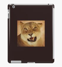 angry lioness iPad Case/Skin