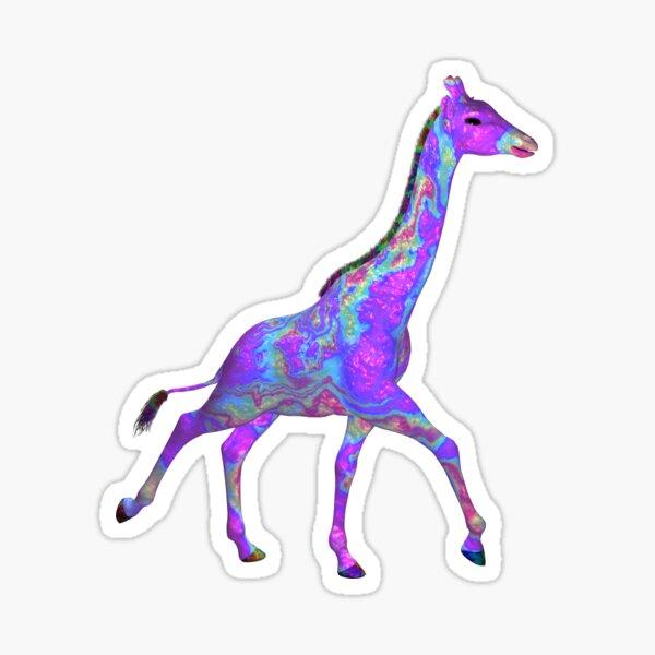 Psychedelic Giraffe Sticker