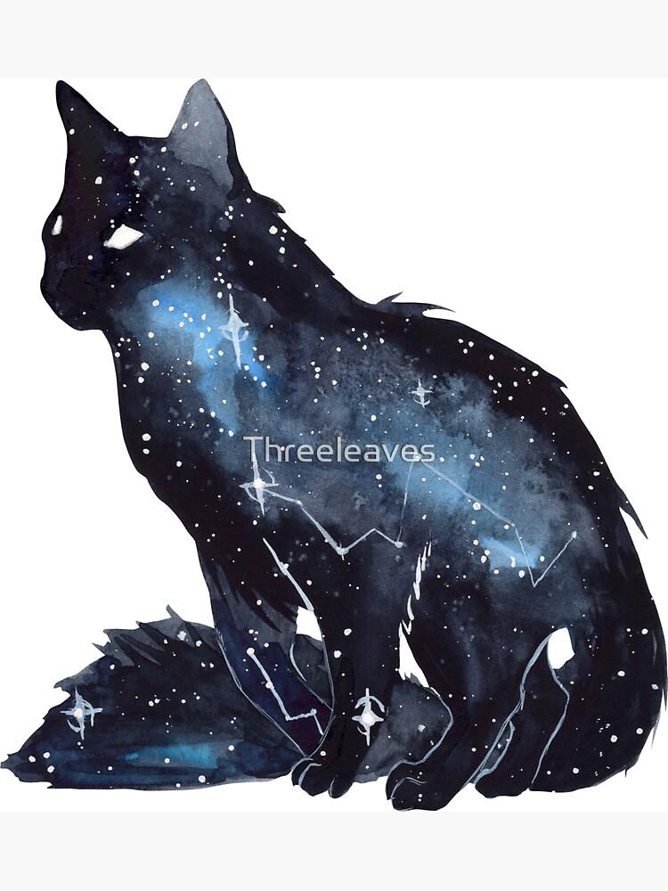 Galaxy Cat by Threeleaves