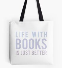 Life With Books Tote Bag