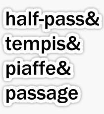 Dressage ampersand list Sticker