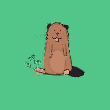 Beaver dabbing by Titmoff