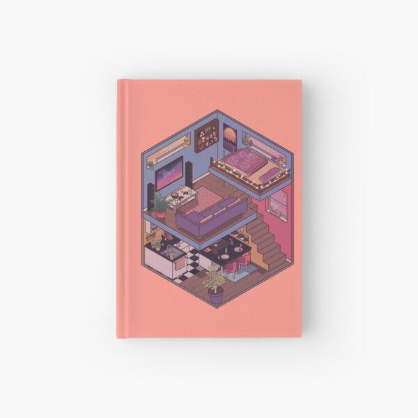 Small Apartment with Cute Kitchen Corner Hardcover Journal