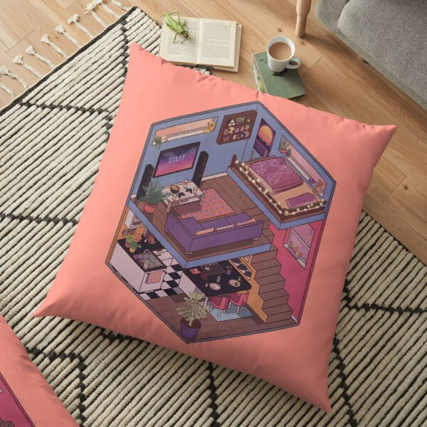Small Apartment with Cute Kitchen Corner Floor Pillow