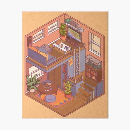 Small Isometric Apartment Art Board Print