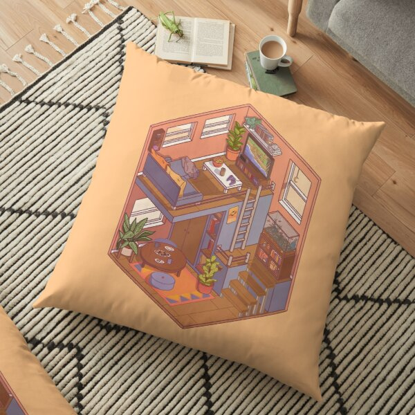 Small Isometric Apartment Floor Pillow