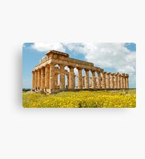 Italy - Greek temple at Selinunte Canvas Print