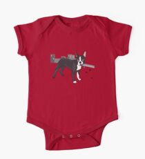 Attack of the Colossal Boston Terrier!!! Kids Clothes