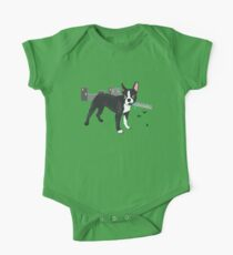 Attack of the Colossal Boston Terrier!!! One Piece - Short Sleeve