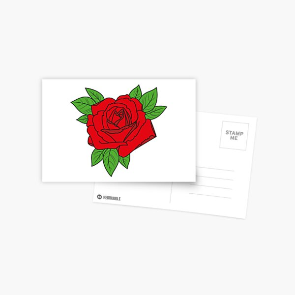 Rose tattoo - red Postcard