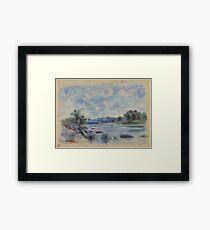 Auguste Renoir - Landscape at Pont-Aven 1892 Impressionism  Landscape Framed Print