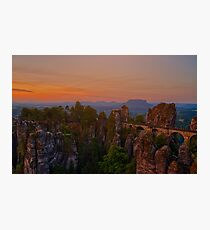 The Elbe Sandstone Mountains Photographic Print