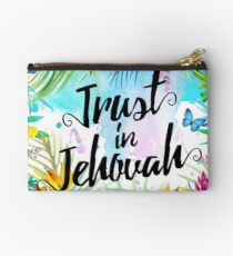 Trust in Jehovah (Watercolor Butterflies and Flowers) Studio Pouch