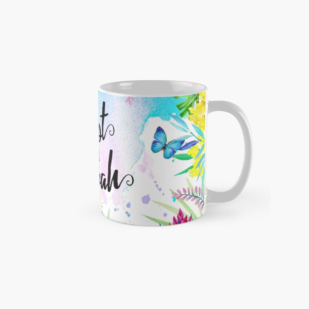 Trust in Jehovah (Watercolor Butterflies and Flowers) Mug