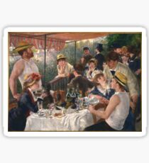 Auguste Renoir - Luncheon of the Boating Party 1880-1881 Woman Portrait Sticker