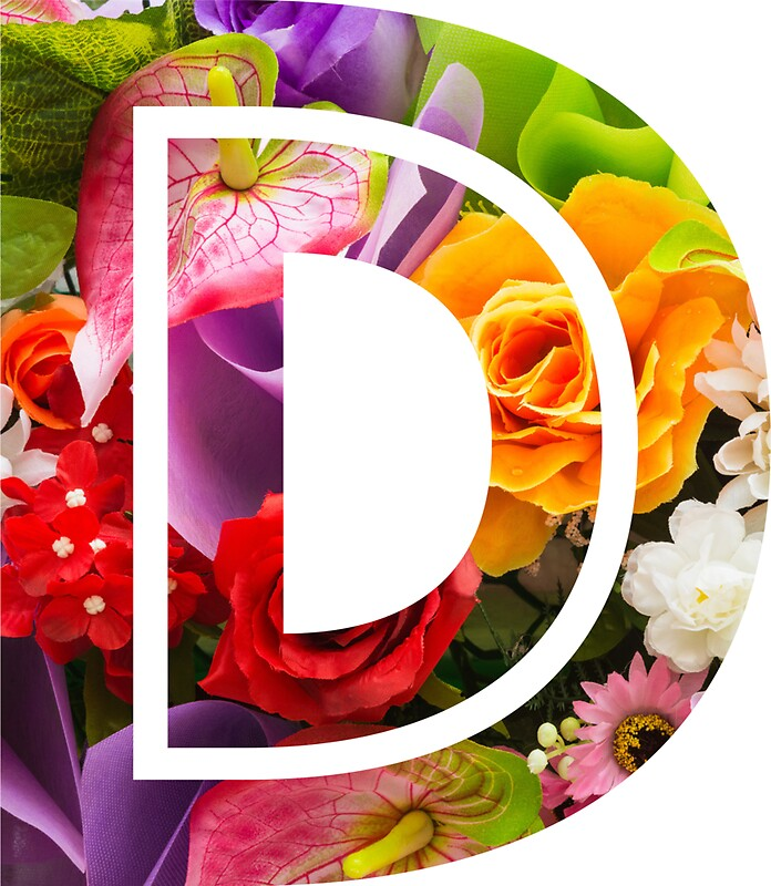 Quot The Letter D Flowers Quot Stickers By Mike Gallard Redbubble