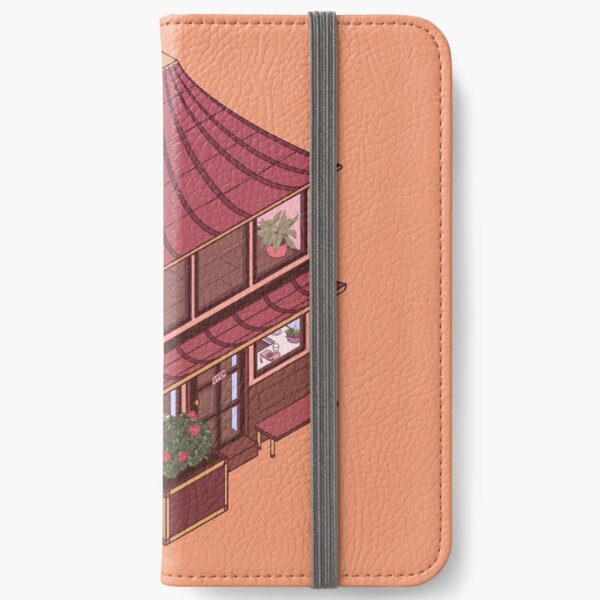 Small Isometric Japanese Themed Cafe iPhone Wallet