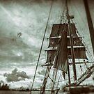 Stormy Sunset Sails - Sydney Harbour - Australia by Bryan Freeman