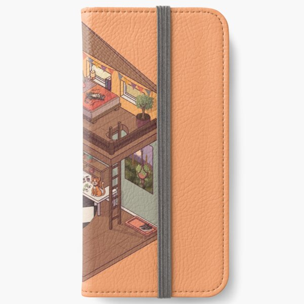 Cute Isometric Apartment with Many Plants iPhone Wallet