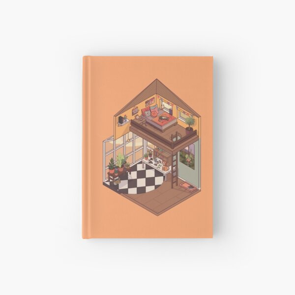 Cute Isometric Apartment with Many Plants Hardcover Journal