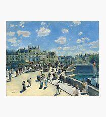 Auguste Renoir - Pont Neuf, Paris 1872 Impressionism  Landscape Photographic Print