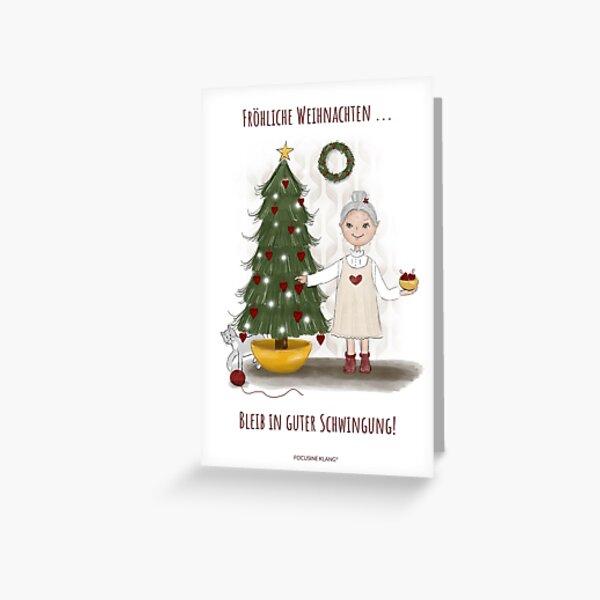 Klangzeit ist Seelenzeit - Klangschale (Weihnachten) Grußkarte
