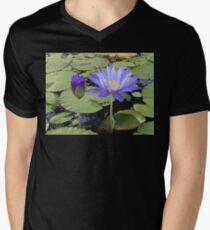 """Water Lillies"" Men's V-Neck T-Shirt"