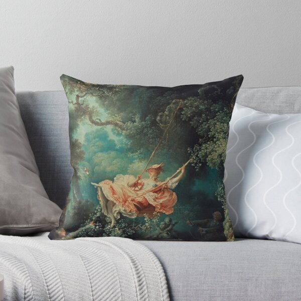 The Swing Painting by Jean-Honoré Fragonard Throw Pillow