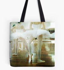 Ballet dancers with white tutu Tote Bag
