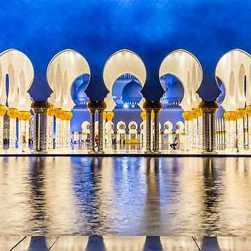 Sheikh Zayed Grand Mosque At Night by farazazhar