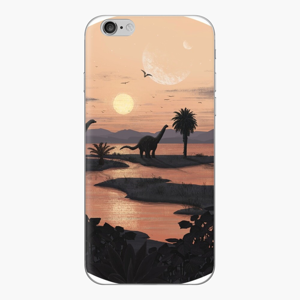 Playa jurásica Vinilo para iPhone