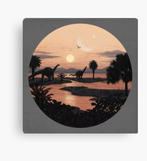 Jurassic Beach Canvas Print